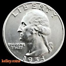1953 25C Washington Silver Quarter BU ~One of the Rarer Silver Washingtons'~