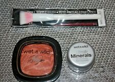 WET N WILD FERGIE AO44  ULTIMATE MINERALS 165 & BRUSH LOT OF 3 SEALED /NEW