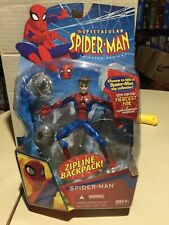 NEW Hasbro SPECTACULAR SPIDER-MAN Animated Series Action Figure Zipline backpack