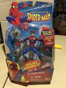NEW Hasbro SPECTACULAR SPIDER-MAN Animated Series Action Figure Zipline backpack