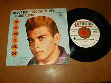 FABIAN - ABOUT THIS CALLED LOVE - STRING ALONG - 45 PS  / LISTEN - TEEN  POPCORN