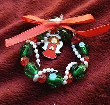 Wreath w Angel Charm Christmas Ornament (or Pin) Craft Kit,2+ ITEMS SHIP FREE!