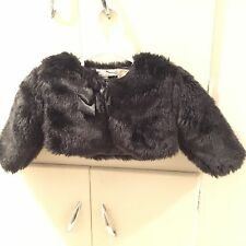 Wendy Bellissimo Toddler Furry Jacket Size 12M Black Used Once