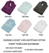 550GSM Luxury 100% Egyptian Cotton Terry Towelling Bath Robe Bathrobe Gown