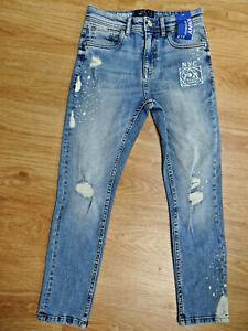 NEXT boys blue denim skinny leg jeans with stretch AGE 10 YEARS NEW BNWT