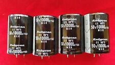 4 PCS 10,000 10000UF 50V Electrolytic Capacitor 105 degrees USA FREE SHIPPING!