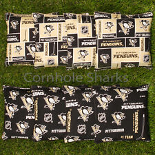 Cornhole Bean Bags Set of 8 ACA Regulation Bags Pittsburgh Penguins  Free Ship!!