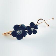 USA WOMENS Hair Clip Hairpin Rhinestone Crystal Fashion Accessory Gift Black 01