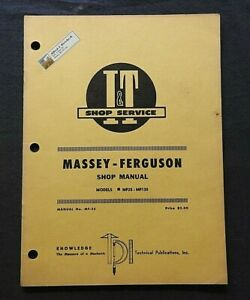 1966 MASSEY-FERGUSON MF25 MF130 MF 25 130 TRACTOR I T SERVICE REPAIR SHOP MANUAL