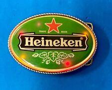 New Heineken Beer Belt Buckle attention grabbing LED lights!   W/ Fresh Battery
