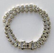 Rhinestone Bracelet Vintage Costume Jewellery (1960s)
