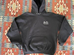 Vintage 90s Buffy The Vampire Slayer TV Show Promo Navy Zip Up Lee Hoodie Sz.M/L