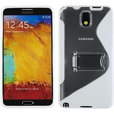 Coque en Silicone Samsung Galaxy Note 3 pied support blanc