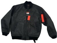 Nike Jordan MJ 23 Engineered MA-1 Men's Size L Black Infared Bomber Jacket NWT