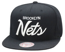 Mitchell & Ness Brooklyn Nets Snapback BLACK/WHITE SCRIPT jordan 3 cyber monday