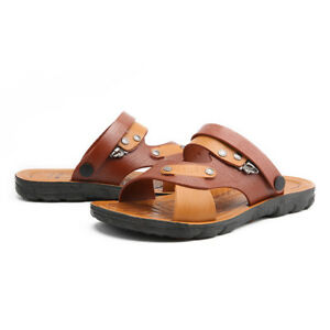Summer Mens Slip On Outdoor Casual Thong Clip Toe Straps Beach Sand Slippers B