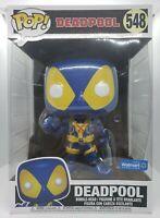 Funko Pop! Deadpool #548 Walmart Exc Deadpool Blue & Yellow 10 inch Damaged Box