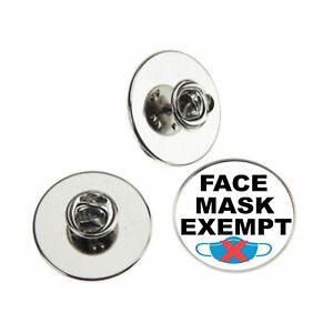 FACE MASK EXEMPT LAPEL PIN BADGE 25MM