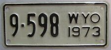 Wyoming 1973 BIG HORN COUNTY MOTORCYCLE License Plate NICE QUALITY # 9-598
