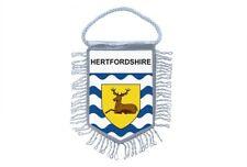 fanion mini drapeau voiture decoration souvenir blason anglais hertfordshire