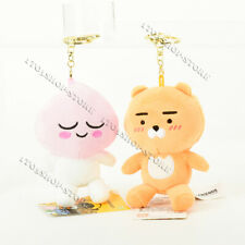 Kakao Friends Apeach & Ryan Plush Stuffed Doll Mobile Phone Strap Keychain Charm