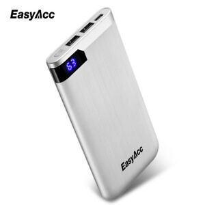 EasyAcc 10000mAh Power Bank Portable Battery Charger LCD Dual Output Type-C Port