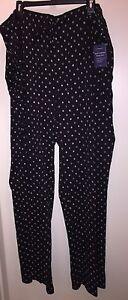 "CROFT & BARROW Men's True Comfort Lounge Pants ""BLACK"" Multi Print Size 3XLT NWT"