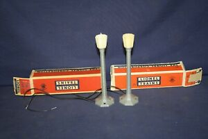 Lionel TWO #71 Lamp Posts w/OBs Rewired Tested Ready to Use #1