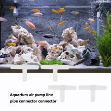10pcs Aquarium Air Pump Line Tubing Joint Tee-Connectors Water Pipe Adapter