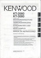 KENWOOD - KT-2080 KT-3080 - Bedienungsanleitung für Tuner - B9149