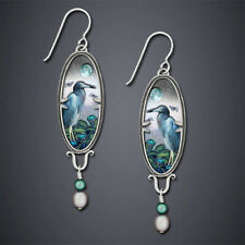 Earrings Plant Animal Pattern Earring 925 Silver Exquisite Drawing Flower Bird