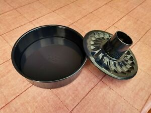 Backform Dr. Oetker Emaille mit Hebeböden, Flach- und Rohrboden, 26 cm