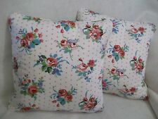 "ROSE  BY PRESTIGIOUS NEW 100% COTTON FABRIC 1 PAIR OF 18""CUSHION COVERS"