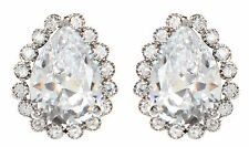 Amrita Singh Catherine Victorian CZ Pear Stud Collection Earrings ERC 6318 NWT