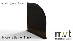 Black Acrylic/Perspex Office Partitions Various sizes, Screens, dividers, Office