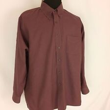 ARROW WRINKLE FREE OXFORD MENS SIZE 18 1/2 (XXL) WINE RED LONG SLEEVE SHIRT