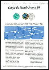 FRANCE CEF 1998 FUßBALL FOOTBALL FUTBOL SOCCER SPORT SONDERBLATT z2165