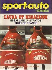 SPORT AUTO 152 1974 LANCIA STRATOS GP GRANDE BRETAGNE ALLEMAGNE TOUR DE FRANCE