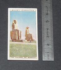 CHROMO 1926 WILLS CIGARETTE CARD EGYPTE EGYPT THE COLOSSI OF MEMNON
