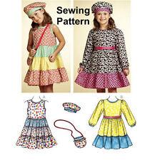 Kwik Sew K3767 Pattern Girls Dresses, Hat & Bag Sizes 4-8 Hat S-L BN
