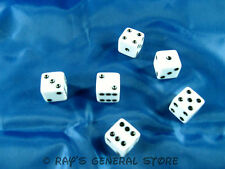 Dice-New - Bunko-Bunco-Casino Games-Yahtzee-Farkle-White 6 Sided- Free Shipping