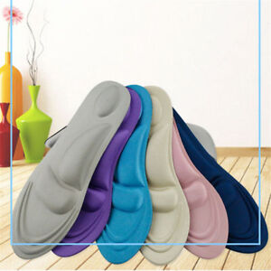 4D Orthotic Flat Feet Foot High Arch Gel Heel Support Shoe Inserts Insoles Pads.
