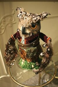 Katherine´S Collection Waldfigur Owl Christmas Tree Tip Autumn Christmas 31cm
