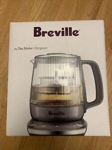 Breville BTM700SHY1BUS1 Compact electric countertop tea maker, Smoked Hickory