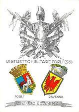 5324) DISTRETTO MILITARE DI FORLI', STEMMI ARALDICI DI FORLI' E RAVENNA.