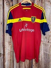 Mens XL Adidas RSL Real Salt Lake MLS Soccer Climacool Lifevantage Jersey