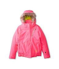 Spyder Lola Kids Jacket Bryte Bubblegum/Sharp Lime 16 Big Kids NWT