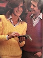 FU22 - Knitting Pattern - Men's & Lady's Unisex Fishermans Knit V-Neck Jumper