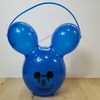 Disneyland Mickey Mouse BLUE Balloon Popcorn Bucket Souvenir 60th Anniversary
