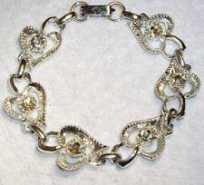 Vintage Silver Tone AURORA BOREALIS Rhinestone Bracelet
